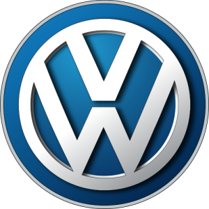 The Volkswagen logo includes the initials VW in a circle.